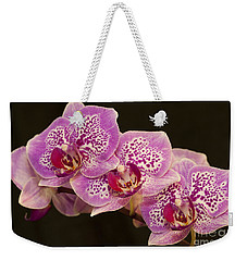 Orchids Weekender Tote Bag by Eunice Gibb
