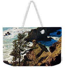 Weekender Tote Bag featuring the photograph Oregon Coast by Athena Mckinzie