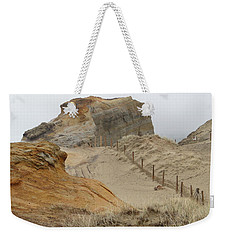 Weekender Tote Bag featuring the photograph Oregon Sand Dunes by Athena Mckinzie