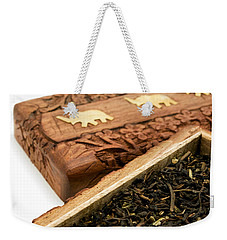 Ornate Box With Darjeeling Tea Weekender Tote Bag
