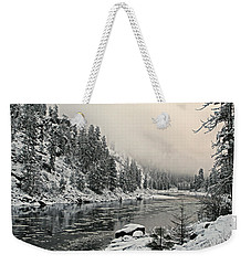 Orofino Snow Clearwater River Weekender Tote Bag