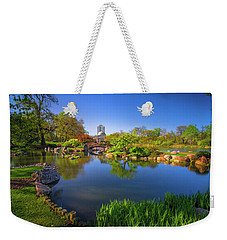 Osaka Garden Pond Weekender Tote Bag