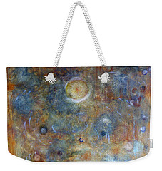 Weekender Tote Bag featuring the painting Outer Limits by Tom Roderick