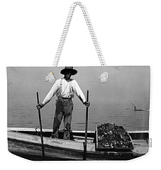 Oyster Fishing On The Chesapeake Bay - Maryland - C 1905 Weekender Tote Bag by International  Images