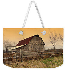 Weekender Tote Bag featuring the photograph Ozark Barn 1 by Marty Koch