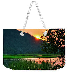 Pack River Delta Sunset 2 Weekender Tote Bag by Albert Seger