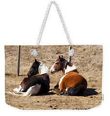 Painted Horses I Weekender Tote Bag by Angelique Olin