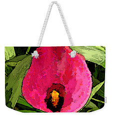 Weekender Tote Bag featuring the photograph Painted Pink Cala Lily by Debbie Portwood