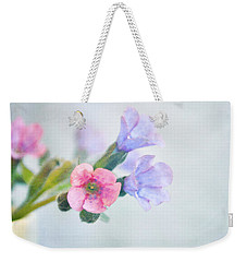 Pale Pink And Purple Pulmonaria Flowers Weekender Tote Bag