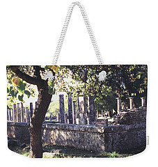 Weekender Tote Bag featuring the photograph Palestra Olympic Site Greece by Tom Wurl