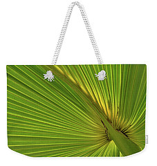 Weekender Tote Bag featuring the photograph Palm Leaf II by JD Grimes
