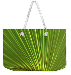Weekender Tote Bag featuring the photograph Palm Leaf by JD Grimes