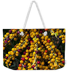 Weekender Tote Bag featuring the photograph Palm Seeds Baroque by Steven Sparks