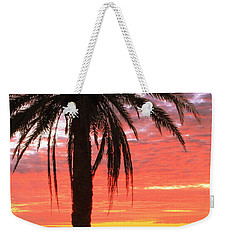 Palm Tree And Dawn Sky Weekender Tote Bag by Roupen  Baker