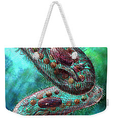 Weekender Tote Bag featuring the digital art Paramecium by Russell Kightley