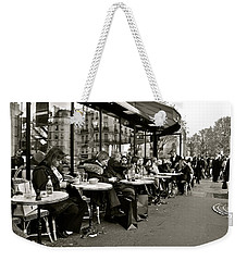 Weekender Tote Bag featuring the photograph Paris Cafe by Eric Tressler