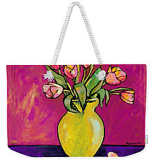 Parrot Tulips In A Yellow Vase Weekender Tote Bag