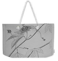 Passionflower Vine Weekender Tote Bag by Daniel Reed