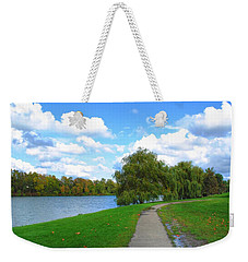 Weekender Tote Bag featuring the photograph Path by Michael Frank Jr