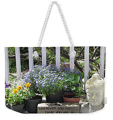 Peace And Buddha Weekender Tote Bag