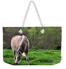 Weekender Tote Bag featuring the photograph Peaceful Pasture by Lydia Holly
