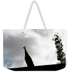 Peacock Sentry Weekender Tote Bag