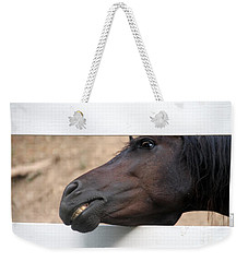 Weekender Tote Bag featuring the photograph Peek A Boo by Elizabeth Winter