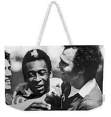 Pele & Beckenbauer, C1977 Weekender Tote Bag