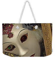 Weekender Tote Bag featuring the mixed media Pensive by Nareeta Martin