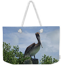 Perched Pelican Weekender Tote Bag