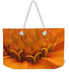 Orange Flower Petals Weekender Tote Bag