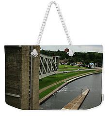 Peterborough Lift Lock Weekender Tote Bag by Alyce Taylor
