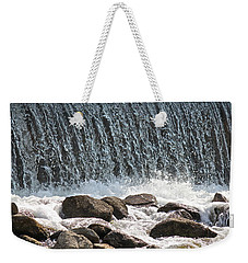 Weekender Tote Bag featuring the photograph Phelps Mill Dam by Penny Meyers