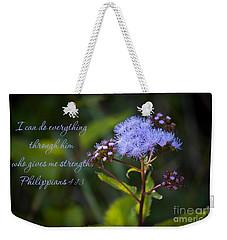 Philippians Verse Weekender Tote Bag