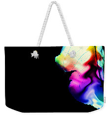Weekender Tote Bag featuring the photograph Phycadelic Leaf by Jessica Shelton