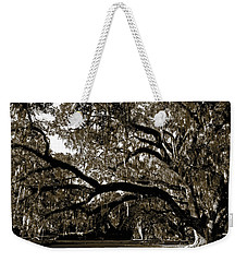 Weekender Tote Bag featuring the photograph Picnic Under The Oak by DigiArt Diaries by Vicky B Fuller