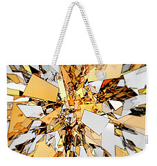 Weekender Tote Bag featuring the digital art Pieces Of Gold by Phil Perkins
