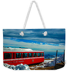Weekender Tote Bag featuring the photograph Pikes Peak Railway by Shannon Harrington