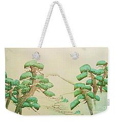 Pine Trees And Fuji Mountain Weekender Tote Bag
