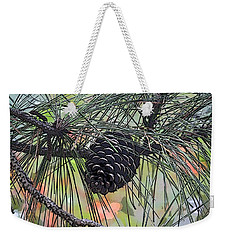 Weekender Tote Bag featuring the photograph Pinecone by Donna  Smith