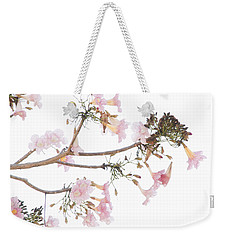 Pink Blossoms In Panama Weekender Tote Bag