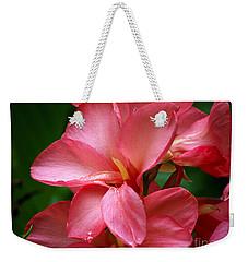 Pink Canna Weekender Tote Bag