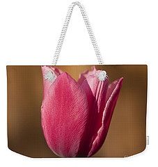 Weekender Tote Bag featuring the photograph Pink by Eunice Gibb