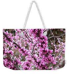 Weekender Tote Bag featuring the photograph Pink Flower by Andrea Anderegg