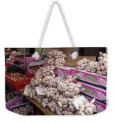 Pink Garlic Weekender Tote Bag by Carla Parris