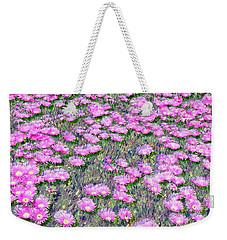 Pink Ice Plant Flowers Weekender Tote Bag