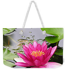 Pink Lily Flower  Weekender Tote Bag by Diane Greco-Lesser