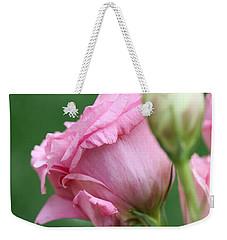 Pink Lisianthus Weekender Tote Bag