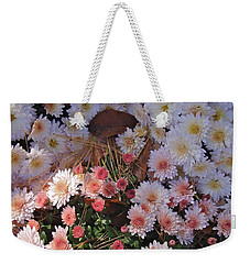 Weekender Tote Bag featuring the photograph Pink Mum by Joseph Yarbrough