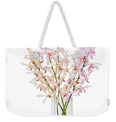 Pink Orchid In Vase Weekender Tote Bag